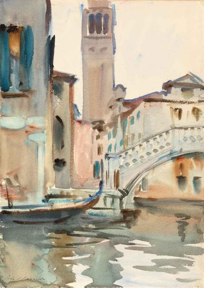 A Bridge and Campanile, Venice - John Singer Sargent