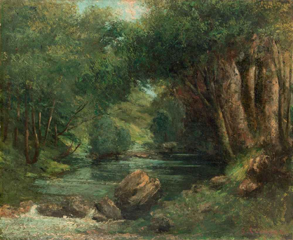 A Brook in the Forest - Gustave Courbet