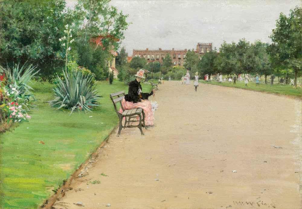 A City Park - William Merritt Chase