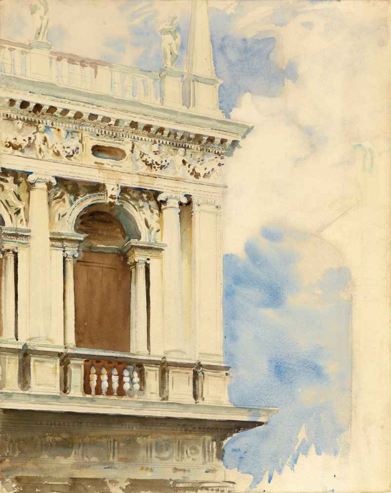 A Corner of the Library in Venice - John Singer Sargent