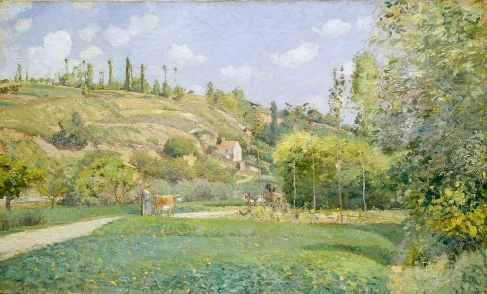 A Cowherd at Valhermeil, Auvers-sur-Oise - Camille Pissarro