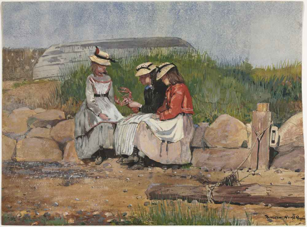 A Fishermans Daughter - Winslow Homer
