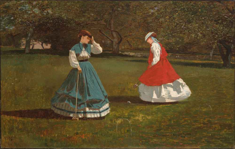 A Game of Croquet - Winslow Homer