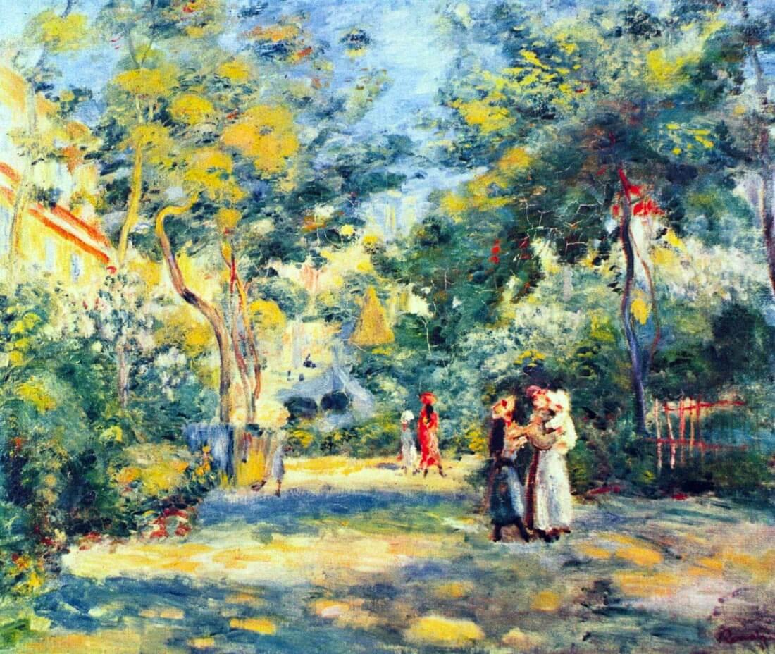 A Garden in Montmartre - Renoir