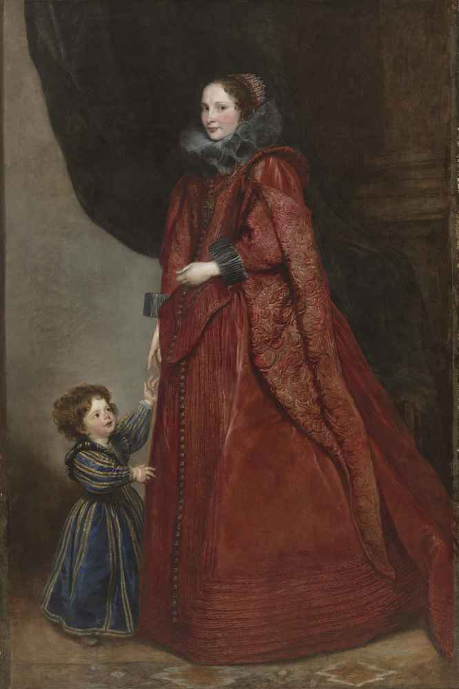 A Genoese Lady with Her Child - Antoon van Dyck