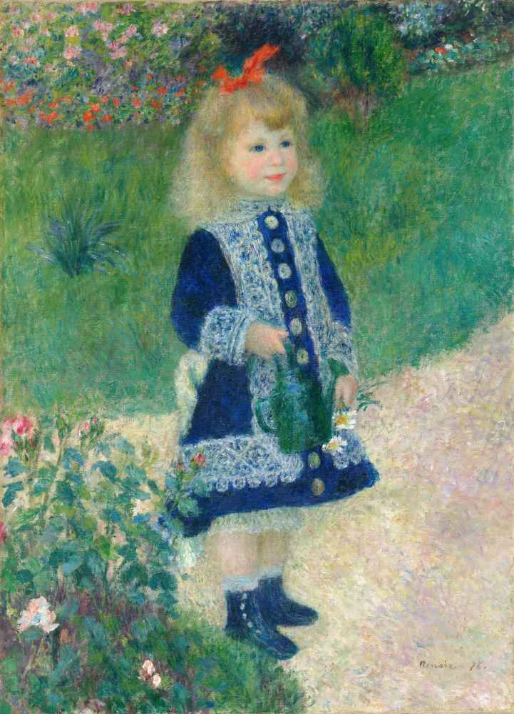 A Girl with a Watering Can - Auguste Renoir
