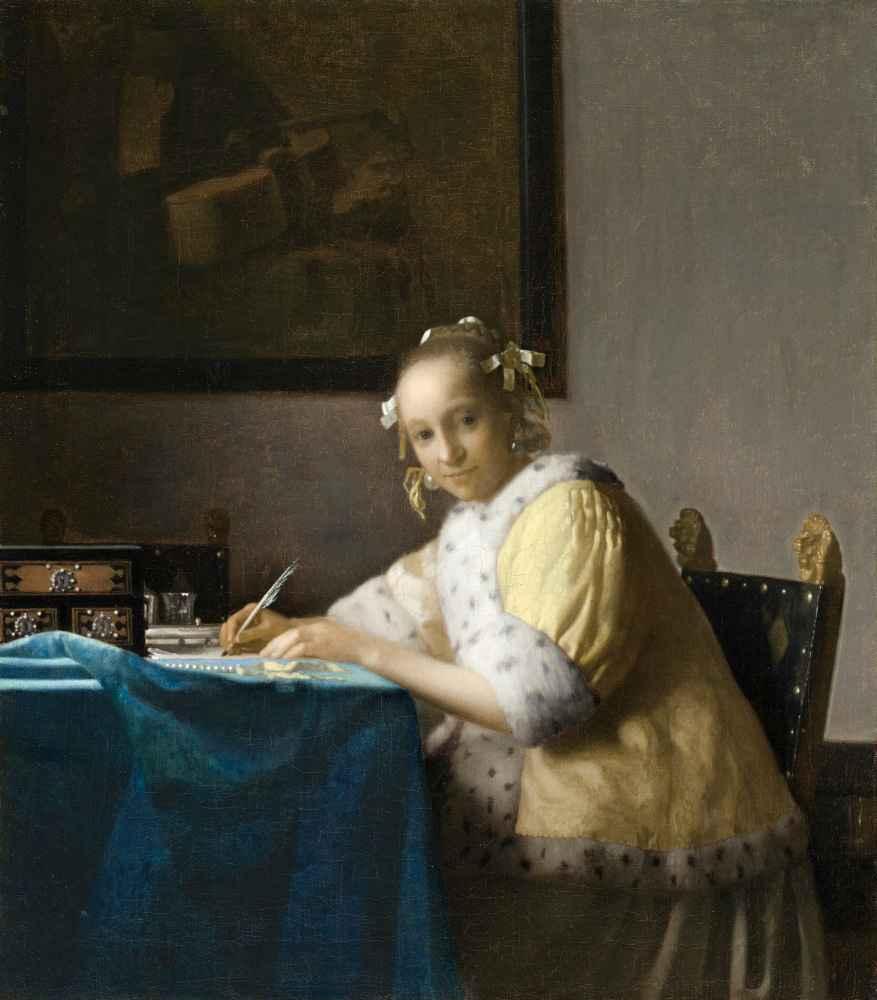 A Lady Writing - Jan Vermeer