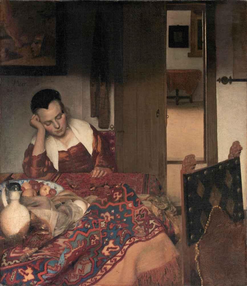A Maid Asleep - Jan Vermeer