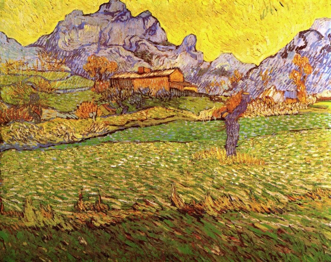 A Meadow in the Mountains Le Mas de Saint-Paul - Van Gogh