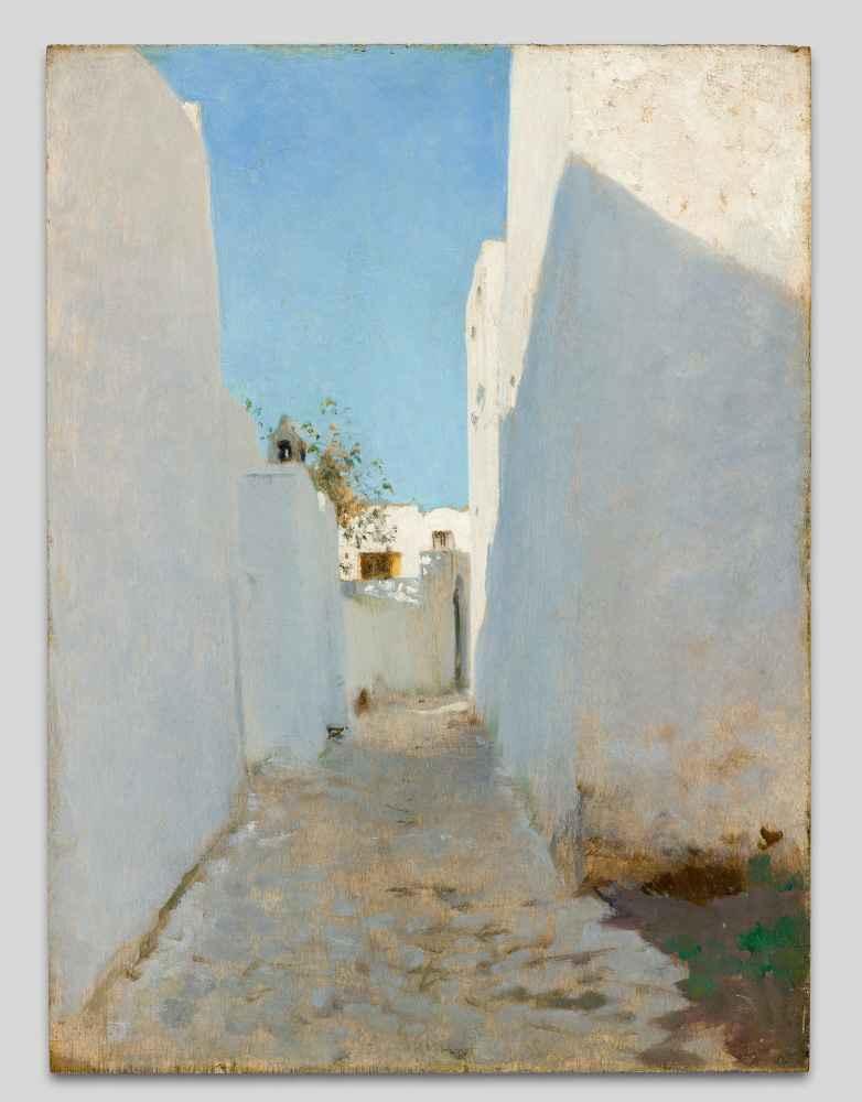 A Moroccan Street Scene - John Singer Sargent