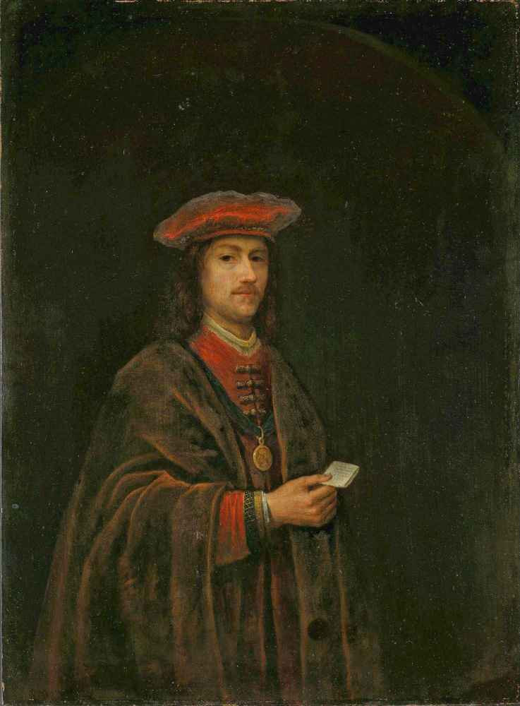A Nobleman in red Costume - Philips Koninck