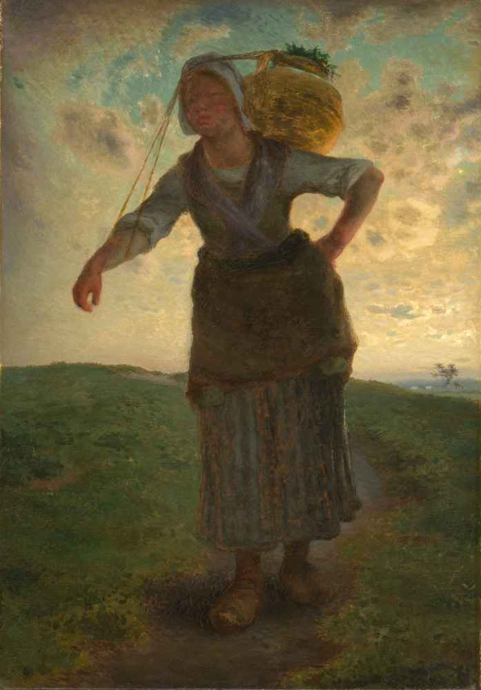 A Norman Milkmaid at Gréville - Jean Francois Millet