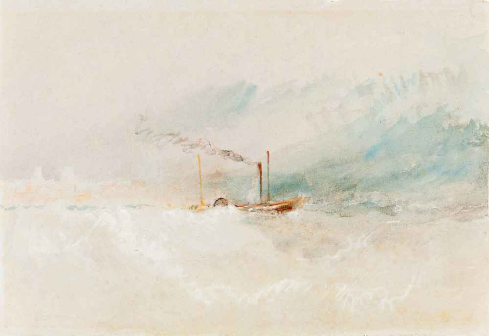 A Packet Boat off Dover - Joseph Mallord William Turner