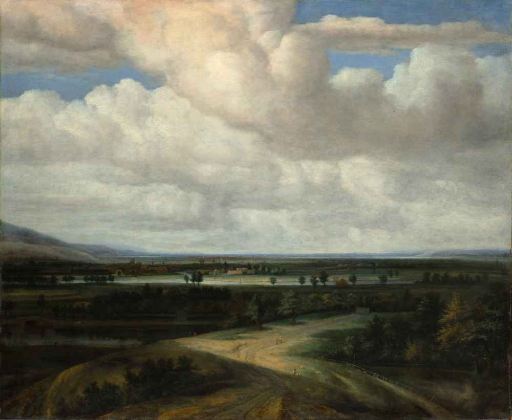 A Panoramic Landscape with a Country Estate - Philips Koninck