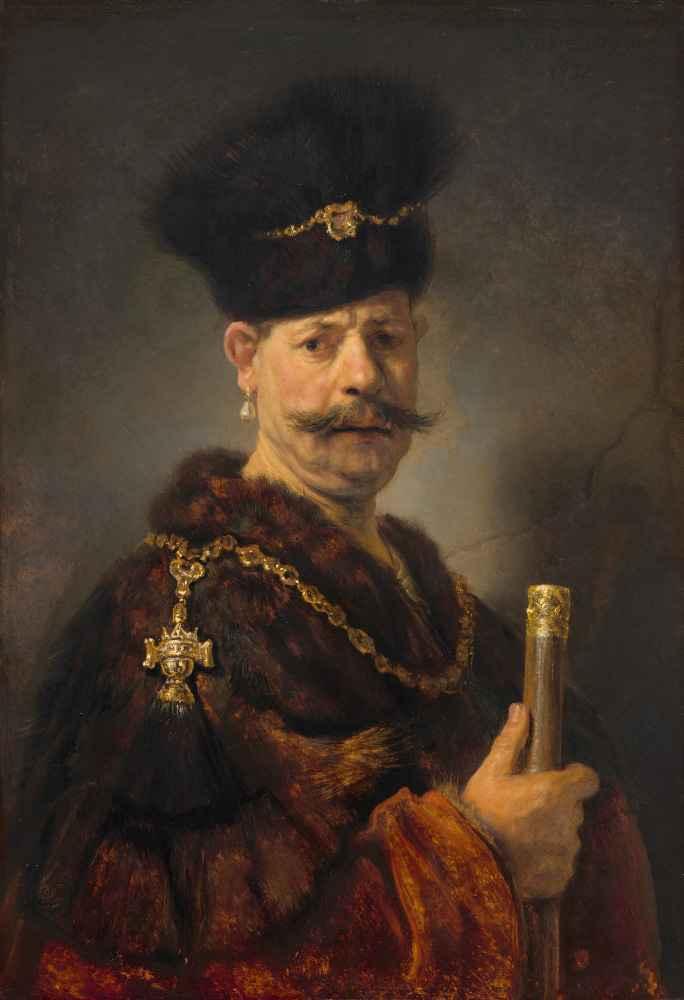 A Polish Nobleman - Rembrandt Harmenszoon van Rijn
