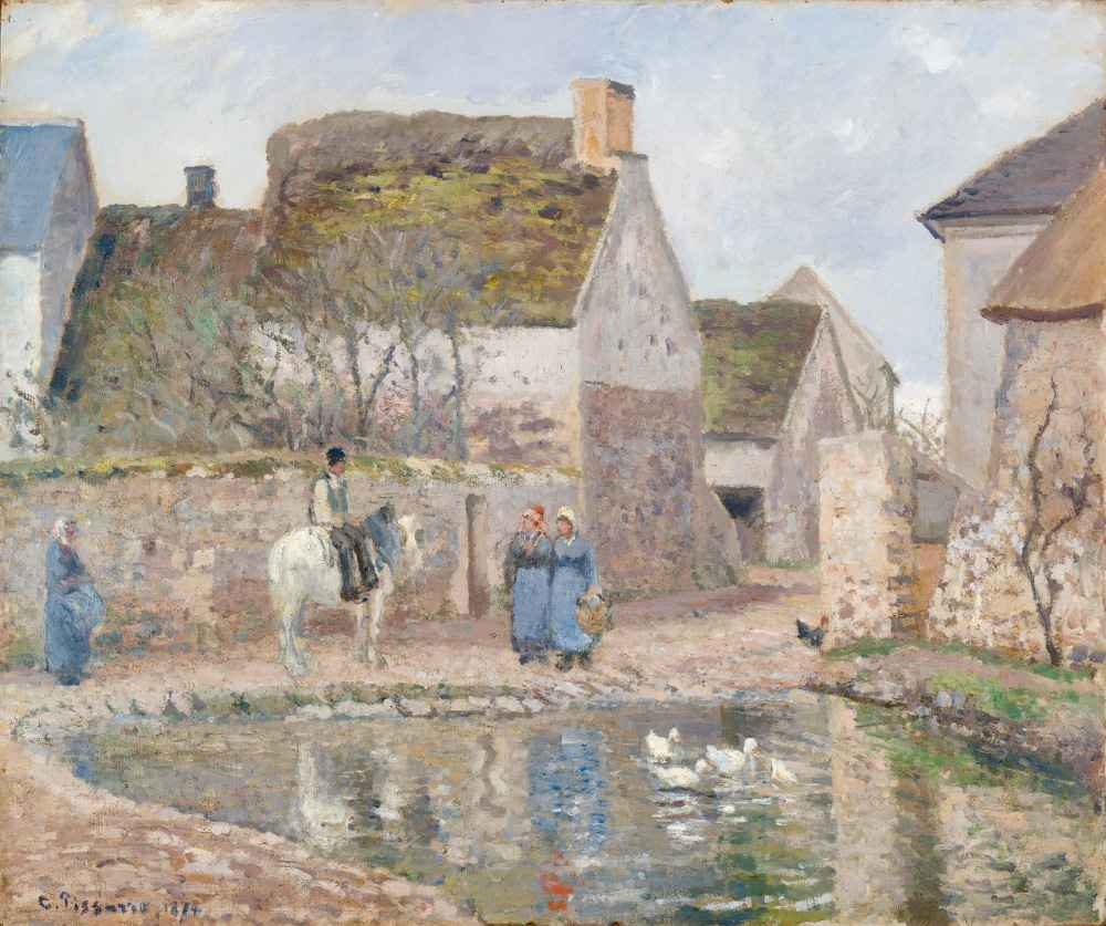 A Pond in Ennery - Camille Pissarro