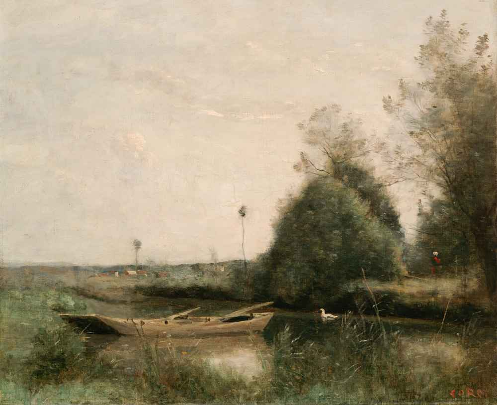 A Pond in Mortain - Jean Baptiste Camille Corot