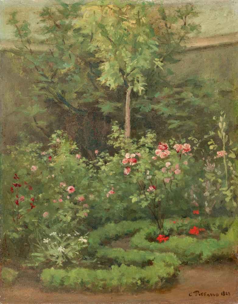 A Rose Garden - Camille Pissarro
