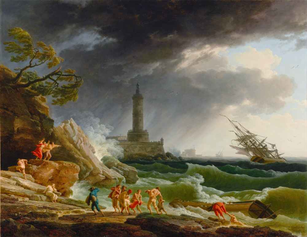 A Storm on a Mediterranean Coast - Claude Joseph Vernet
