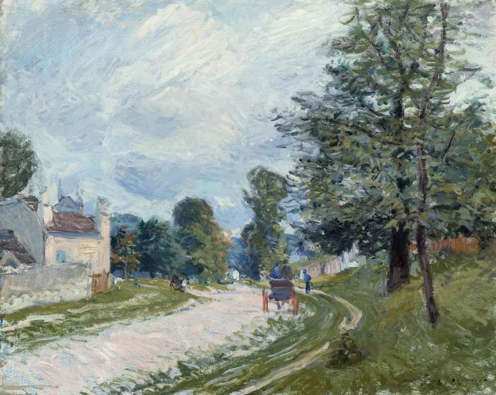 A Turn in the Road - Alfred Sisley