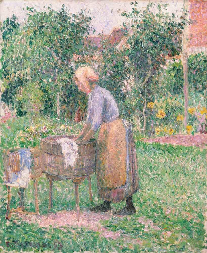A Washerwoman at Éragny - Camille Pissarro