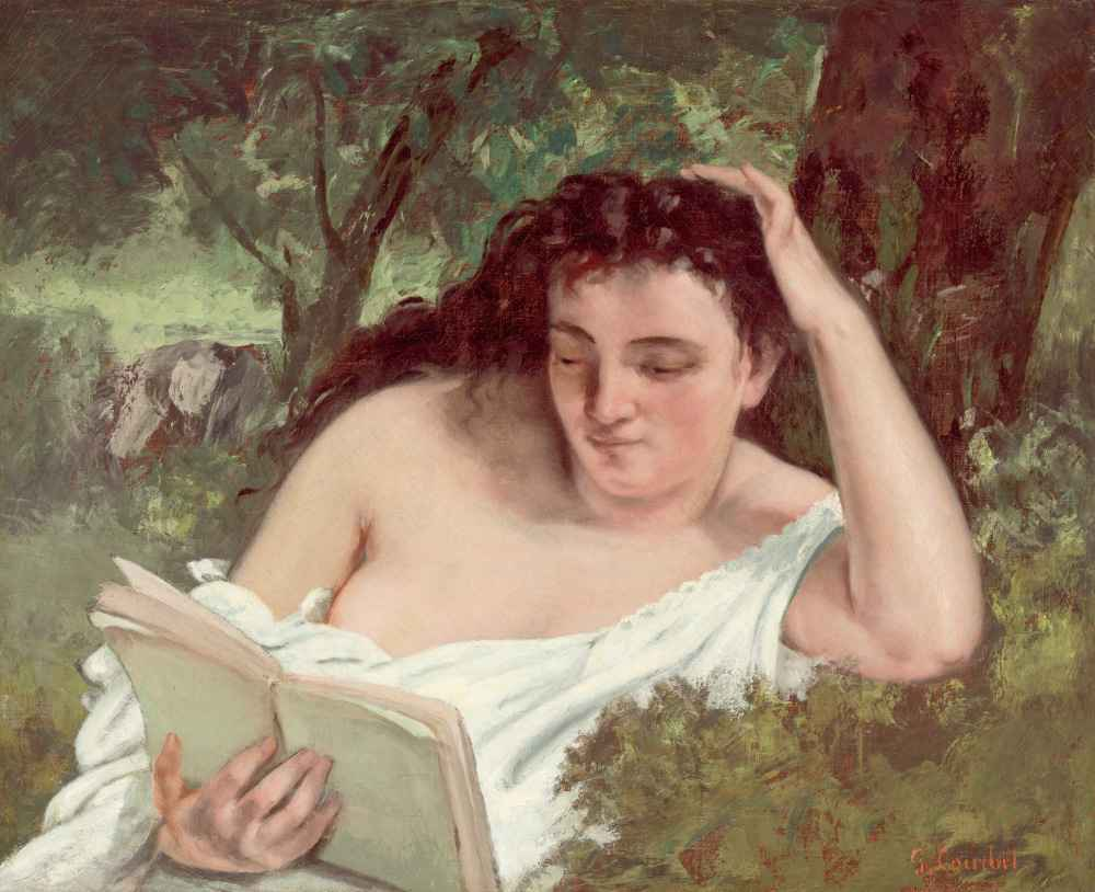 A Young Woman Reading - Gustave Courbet