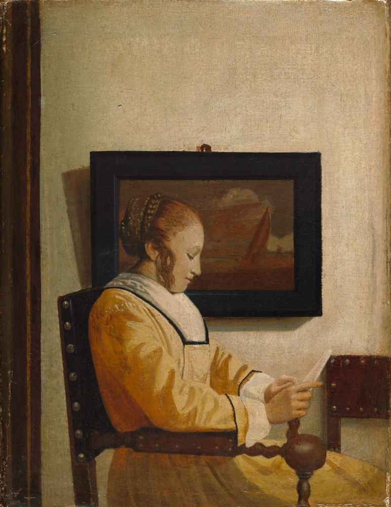 A Young Woman Reading - Jan Vermeer