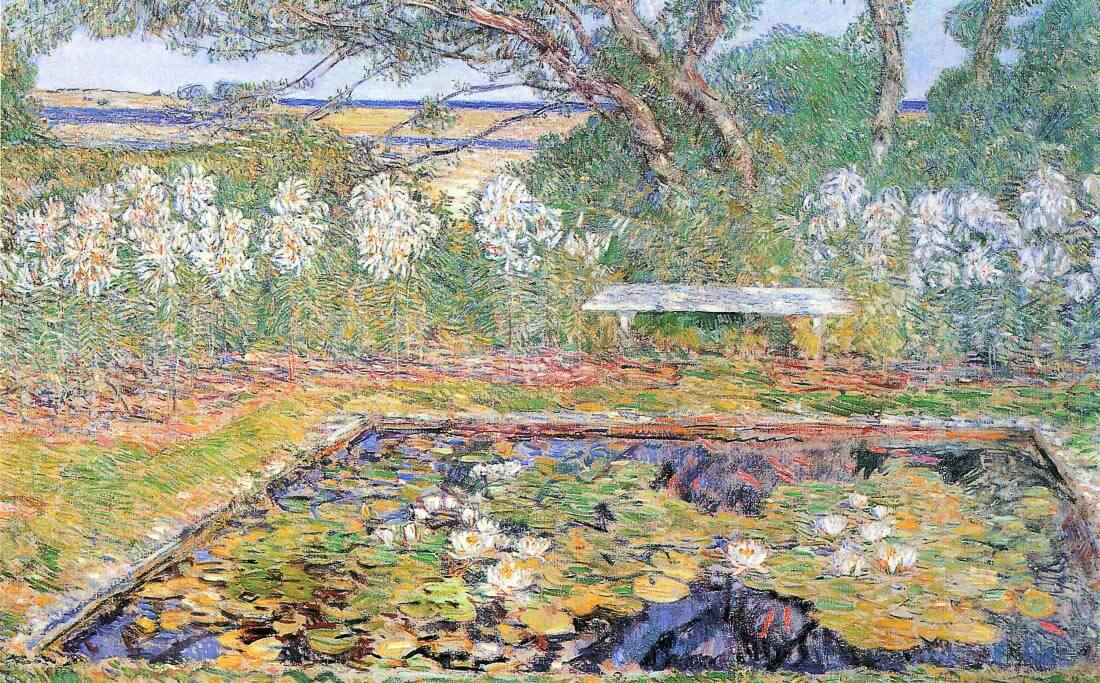 A garden on Long Island - Hassam