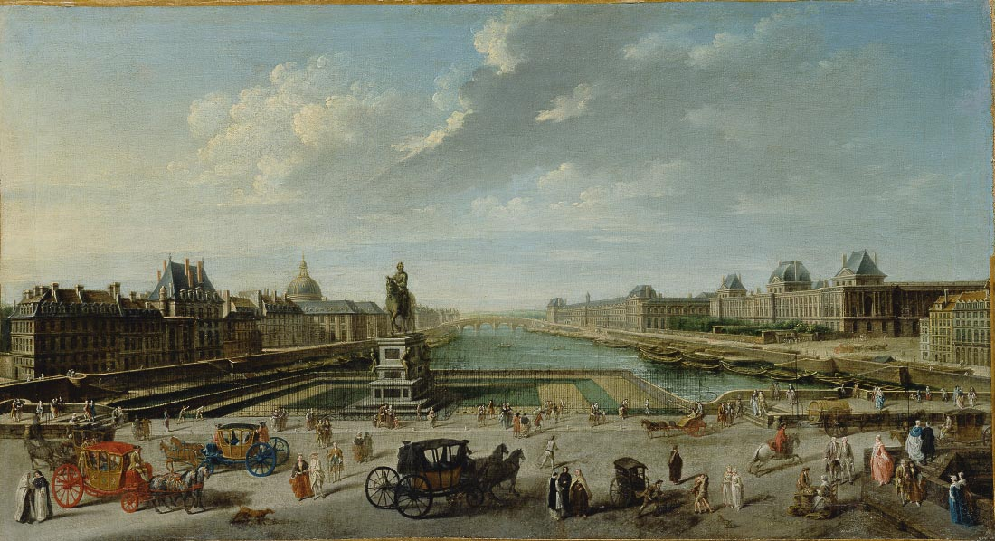A view of Paris from the Pont Neuf - Jean Baptiste Raguenet