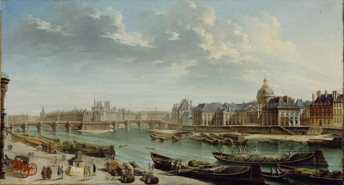 A view of Paris with the Ile de la Cite - Jean Baptiste Raguenet