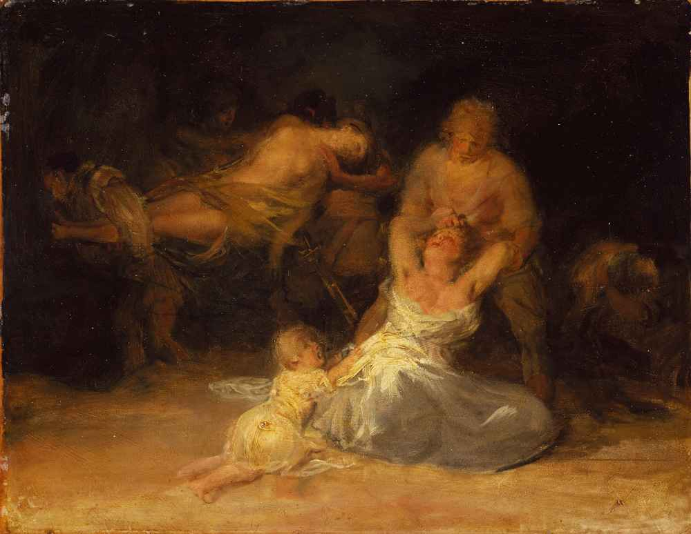 Act of Violence against Two Women - Francisco Goya