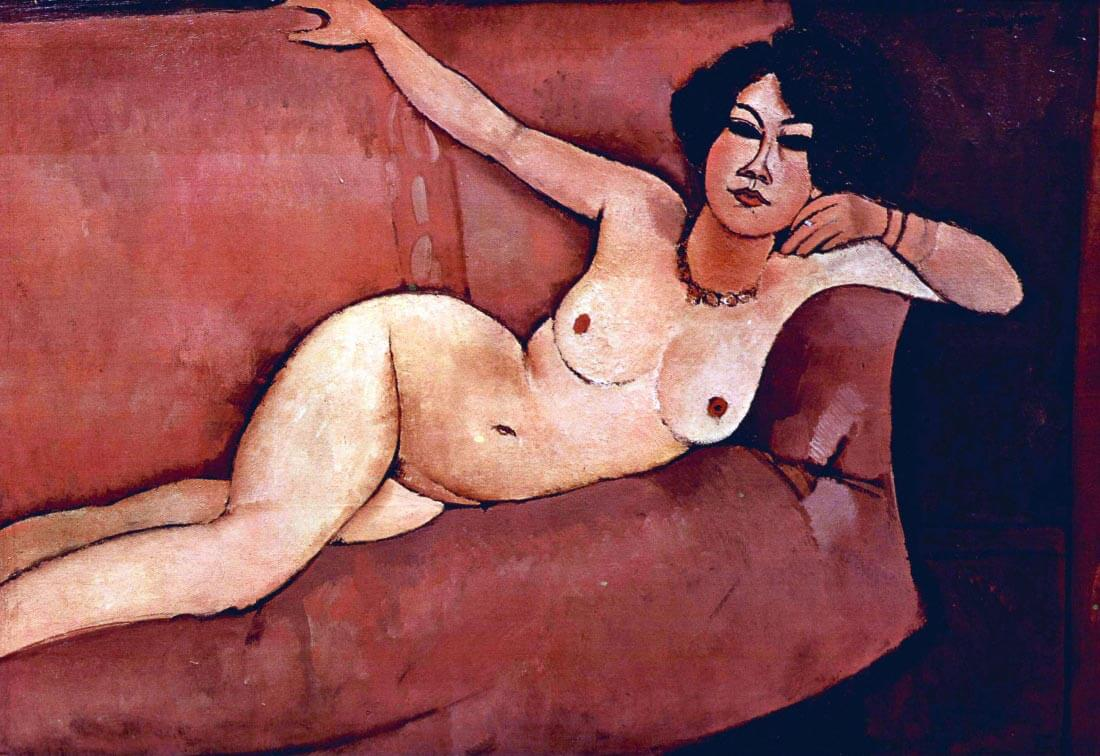 Act on a sofa (Almaiisa) - Modigliani