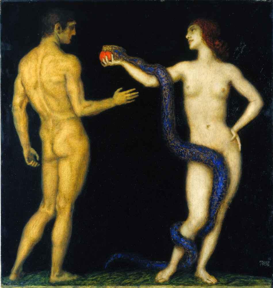 Adam and Eve - Franz von Stuck