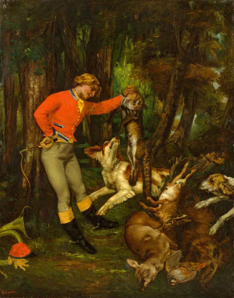 After the Hunt - Gustave Courbet