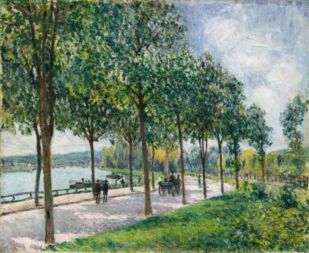 Allée of Chestnut Trees - Alfred Sisley