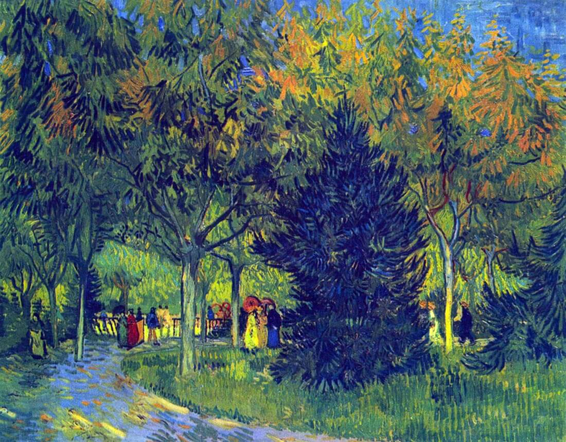Allee in the Park - Van Gogh