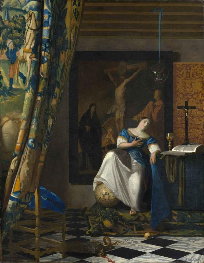 Allegory of the Catholic Faith - Jan Vermeer
