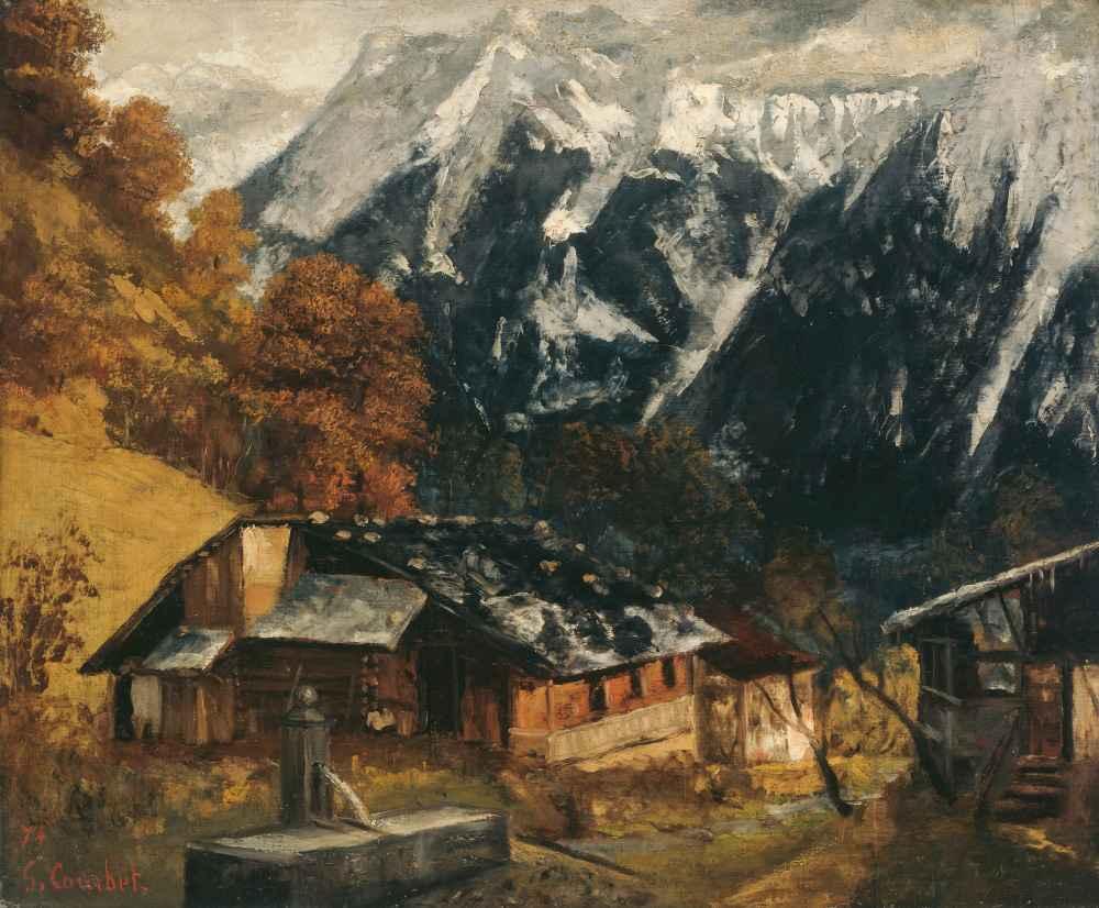 An Alpine Scene - Gustave Courbet