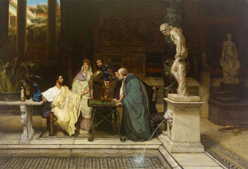 An Art Lover - Lawrence Alma-Tadema