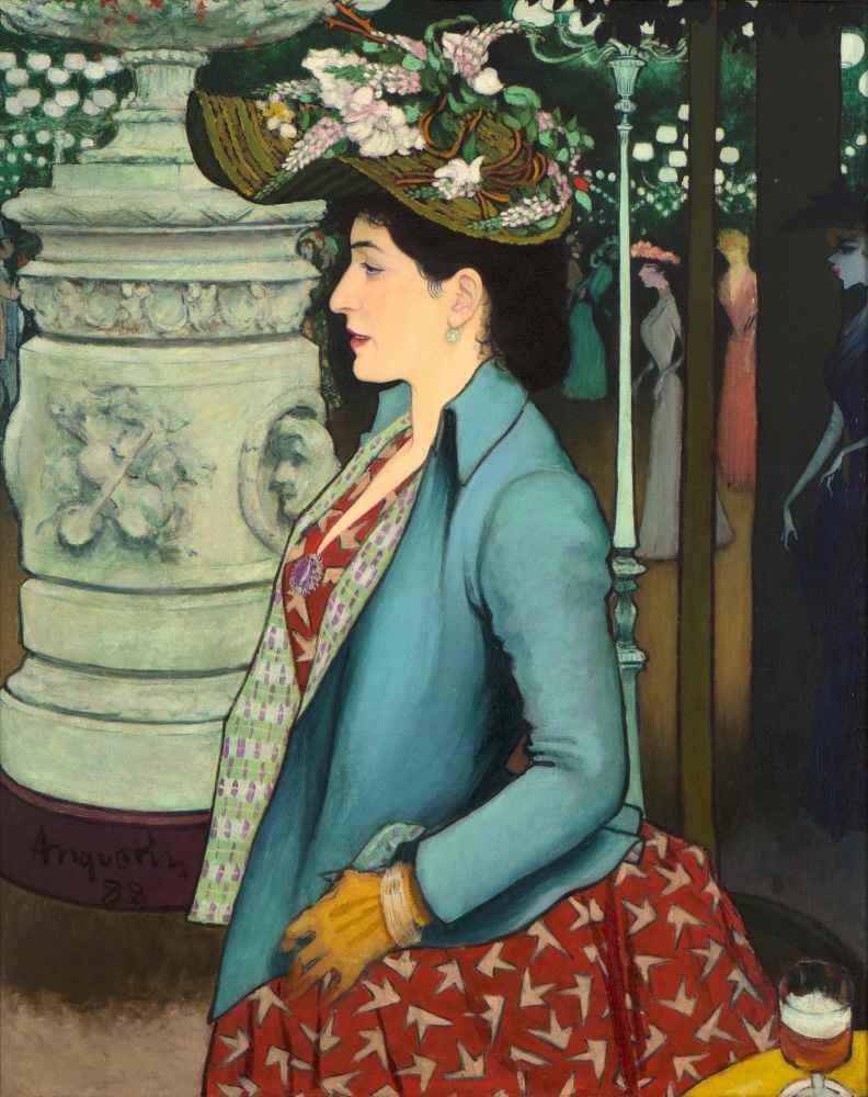 An Elegant Woman at the Élysée Montmartre - Louis Anquetin