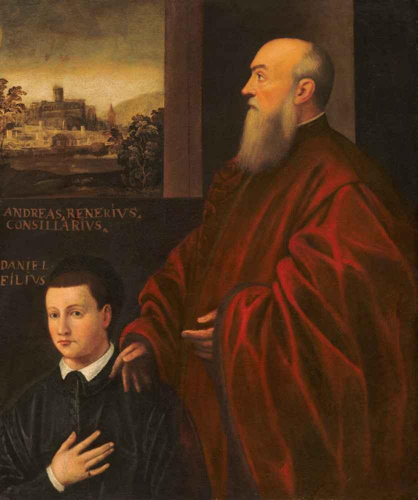 Andrea Renier and His Son Daniele - Jacopo Tintoretto