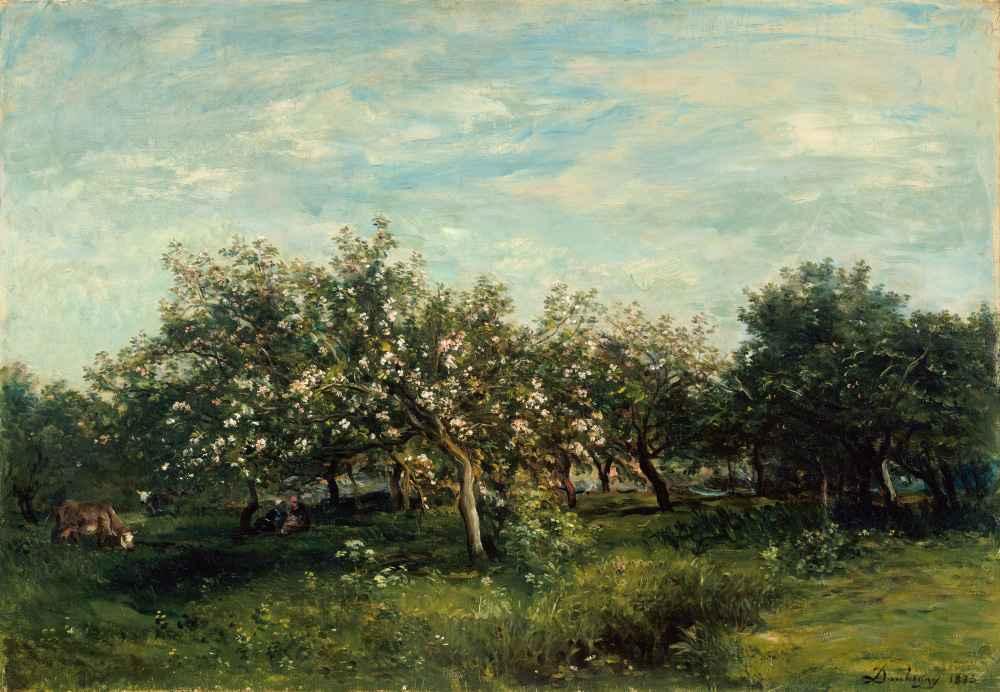 Apple Blossoms - Charles-Francois Daubigny