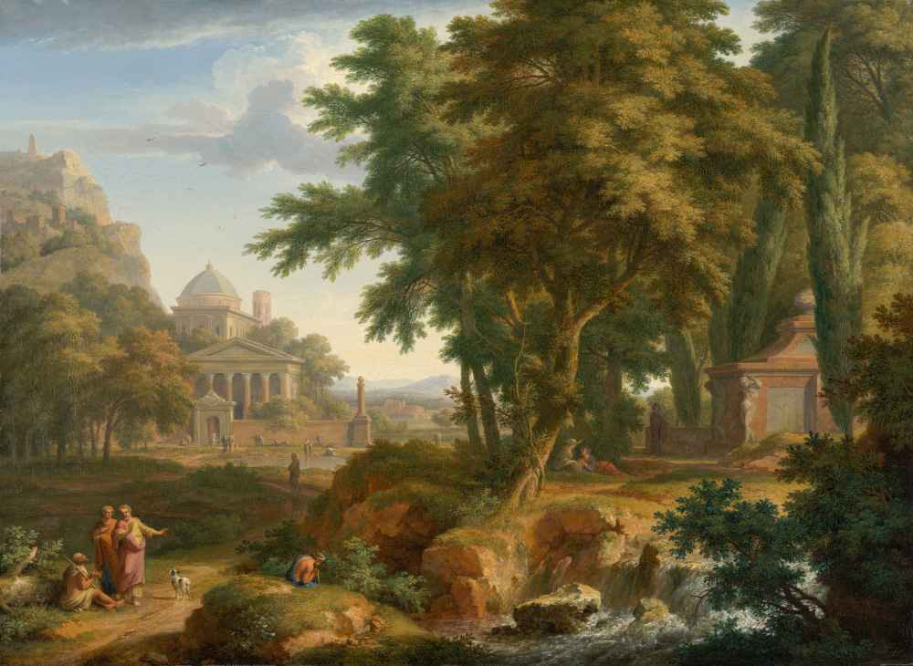 Arcadian Landscape with Saints Peter and John Healing the Lame Man - J