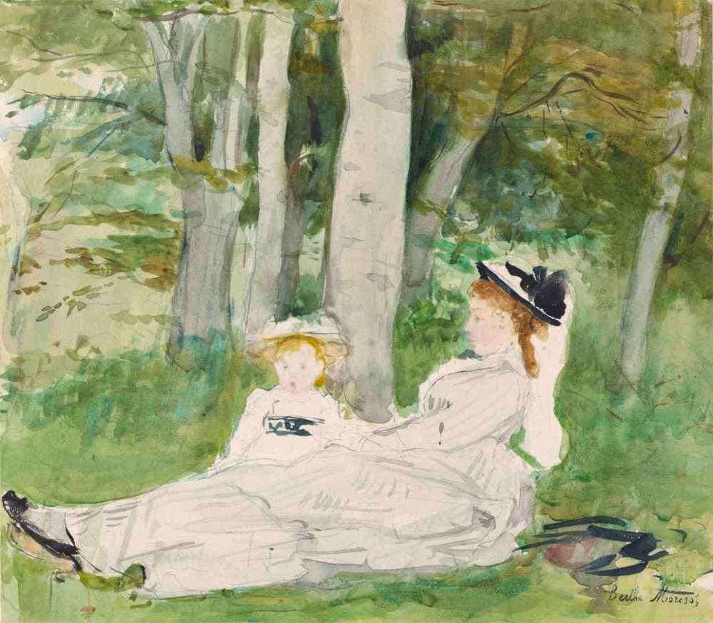 At the Edge of the Forest (Edma and Jeanne), c. 1872 - Berthe Morisot