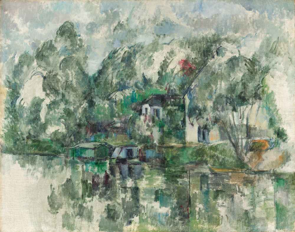 At the Water Edge - Paul Cezanne