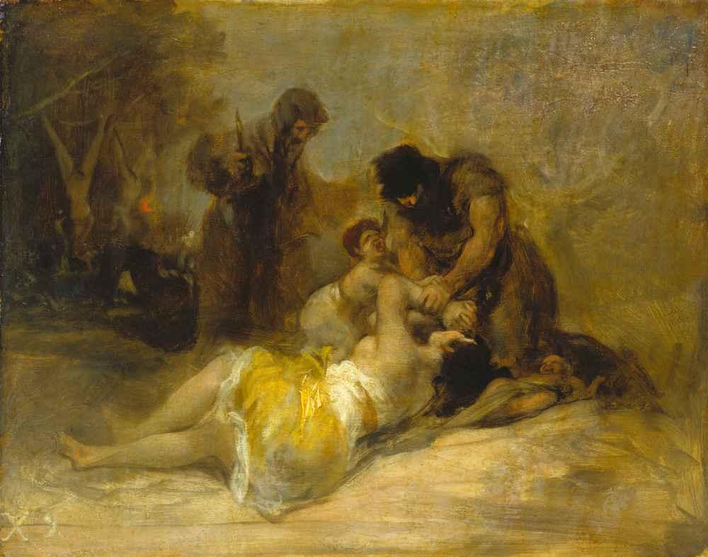 Attack on a Woman - Francisco Goya