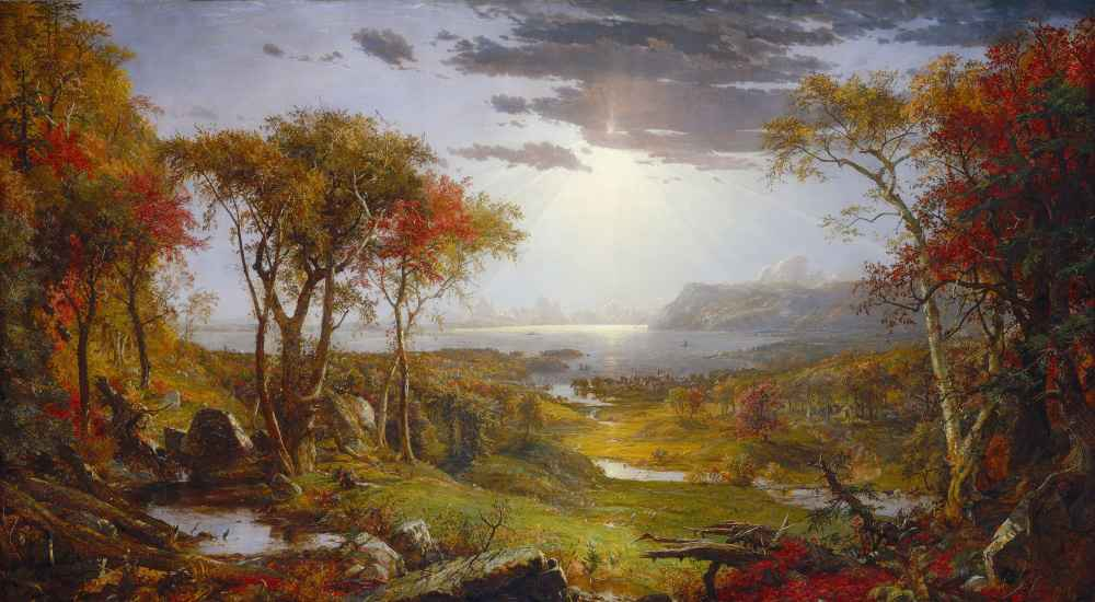 Autumn - On the Hudson River - Jasper Francis Cropsey