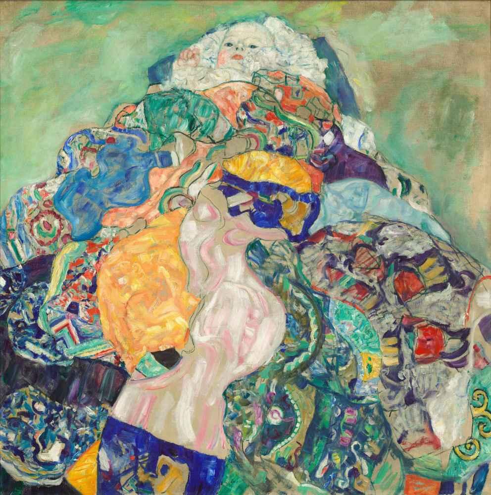 Baby (Cradle) - Gustav Klimt