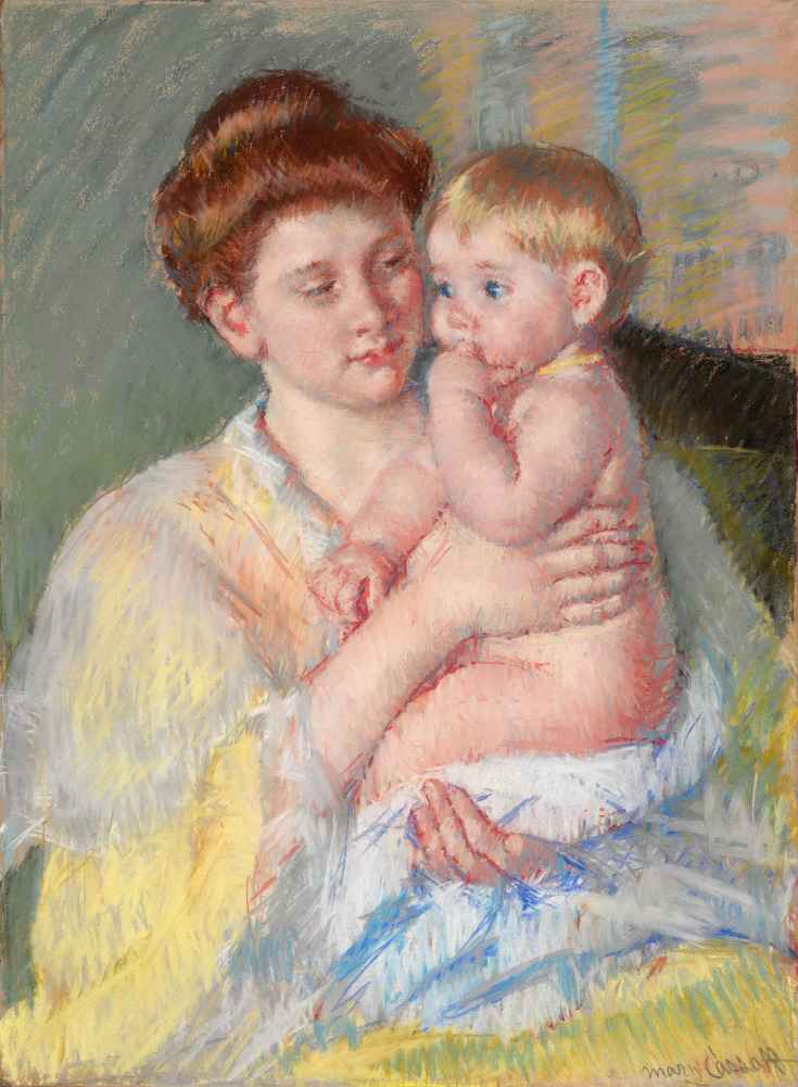Baby John with Forefinger in His Mouth - Mary Cassatt