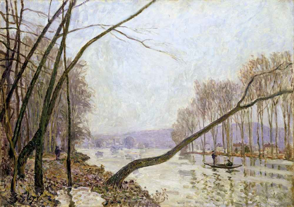 Bank of the Seine in Autumn - Alfred Sisley